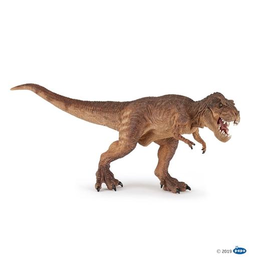Papo 55075 T-Rex biegnący brązowy 16x32x13cm