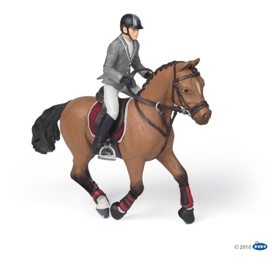 Papo 51561 koń na zawodach z jeźdźcem