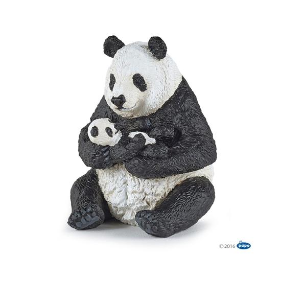 Papo 50196 Panda siedząca z młodym  6x7x8cm