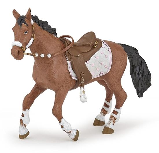 Papo 51553 Koń osiodłany dla jeźdźca