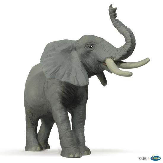 Papo 50041 Słoń z uniesioną trąbą
