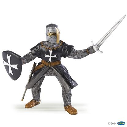 Papo 39938 Rycerz krzyżowy z mieczem i tarczą