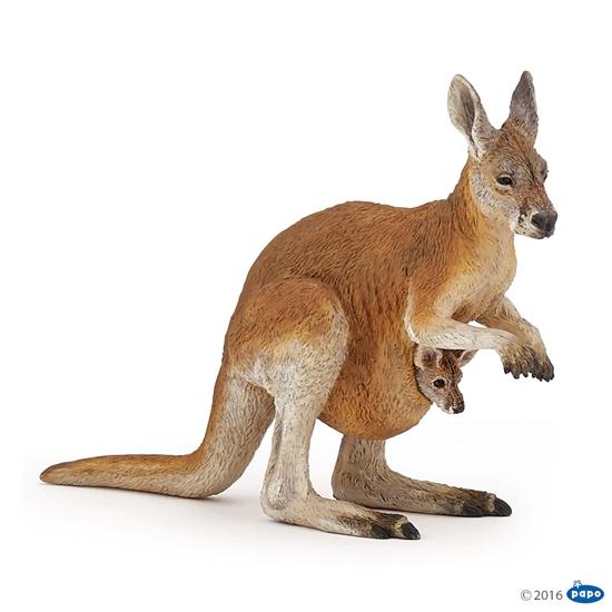 Papo 50188 Kangurzyca z młodym  10x3x8cm