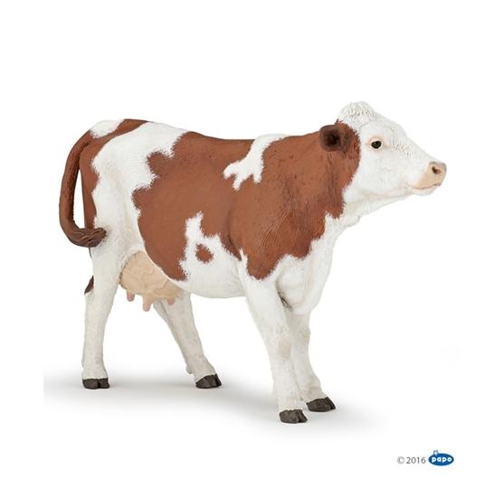 Papo 51165 Krowa rasy montbeliarde  13,7x3,5x8,6cm