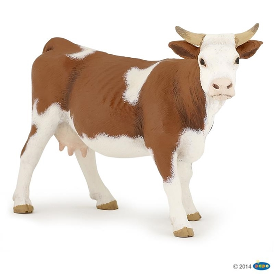 Papo 51133 Krowa rasy Simmental  13x4x8cm (51133 RUSSELL)