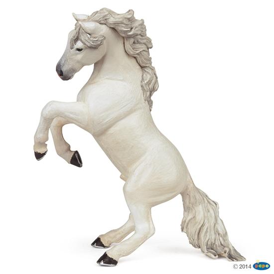 Papo 51521 Koń biały stojacy dęba