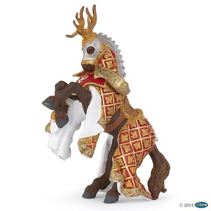 Papo 39912 Koń mistrza broni z porożem jelenia  17 x 6 x 9 cm