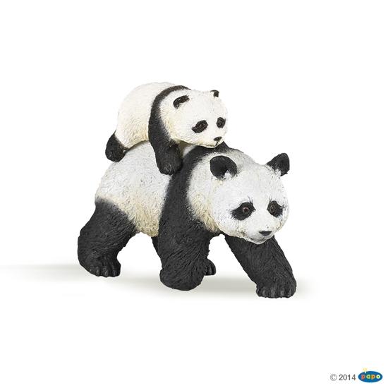 Papo 50071 Panda z młodym  8,2x3,5x6cm