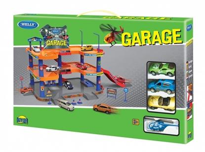 Welly Garaż -2 piętrowy z 4 pojazdami  1:60 (130-00874)