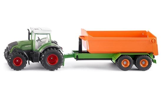 Siku 1989 Traktor Fendt z przyczepą z podnośnikiem (S1989)