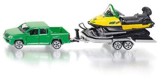 Model 'SIKU' Samochód z lawetą i skuterem śnieżnym (2548)