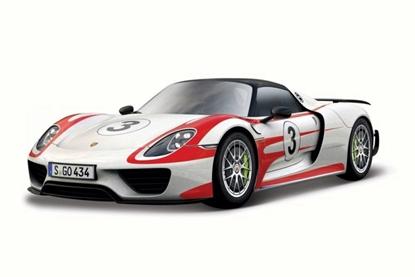 Bburago 1:24 Porsche 918 Weissach  -biały   /Race