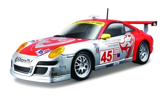 Bburago 1:24 Porsche 911 GT3 RSR -pomarańczowo-srebrne