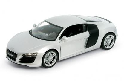 WELLY 1:24 Audi R8  srebrne