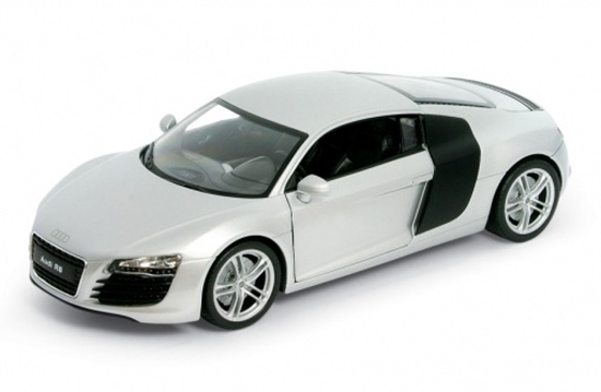 WELLY 1:24 Audi R8  srebrne