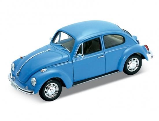 WELLY 1:24 Volkswagen Beetle (Hard-Top) niebieski