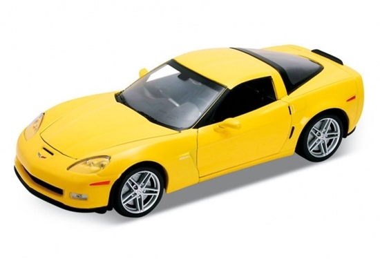 WELLY 1:24 Chevrolet Corvette 2007 żółty
