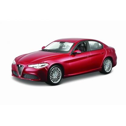 Bburago 1:24 Alfa Romeo GIULIA -bordowy metalik