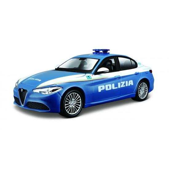 Bburago 1:24 Alfa Romeo Giulia Polizia -niebieska