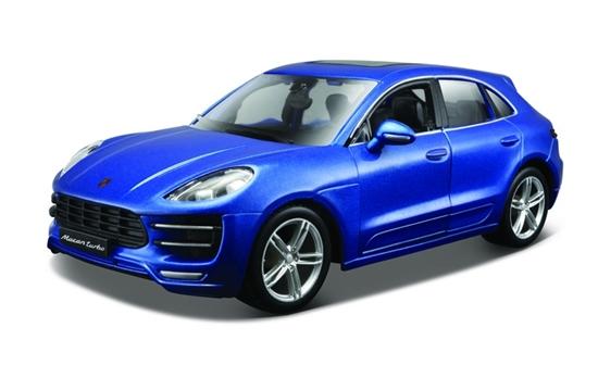 Bburago 1:24 Porsche Macan -niebieski metalik