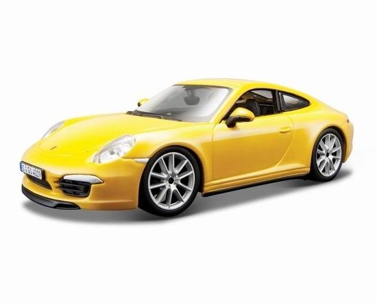 Bburago 1:24 Porsche 911 Carrera S  -żółty