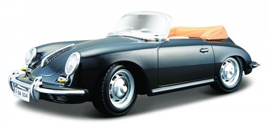 Bburago 1:24 Porsche 356B cabriolet -czarny (18-22078)