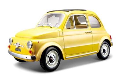 Bburago 1:24 Fiat 500 F 1965 -żółty (18-22098)