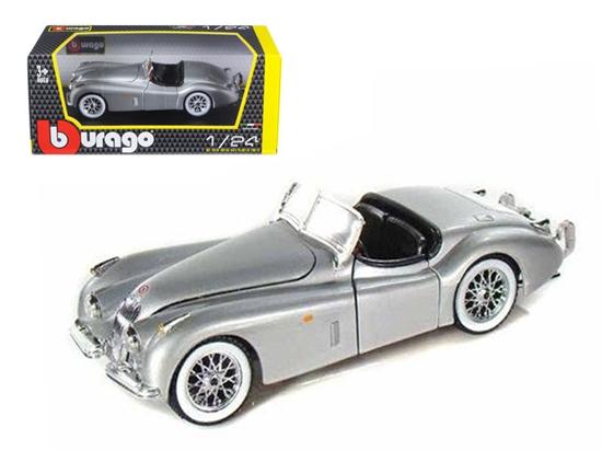 Bburago 1:24 Jaguar XK 120 Roadster -srebrny