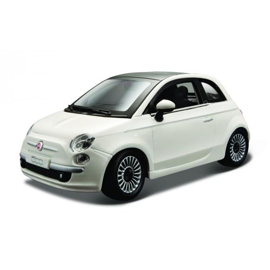 Bburago 1:24 Fiat 500 -biały perłowy