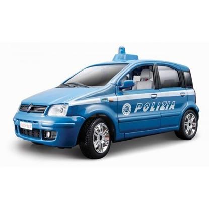 Bburago 1:24 FIAT Nuova Panda polizia 2003 niebieska