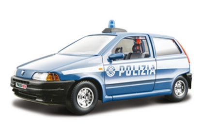BBURAGO 1:24 FIAT PUNTO POLIZIA  SECURITY FORCE