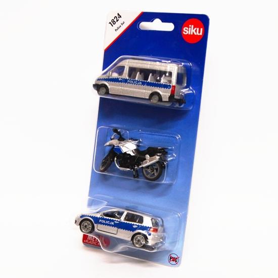 Siku 1824 Zestaw 3 pojazdów policyjnych -wersja polska (GXP-652247)