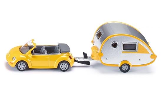 SIKU Samochód z przyczepą campingową (1629)