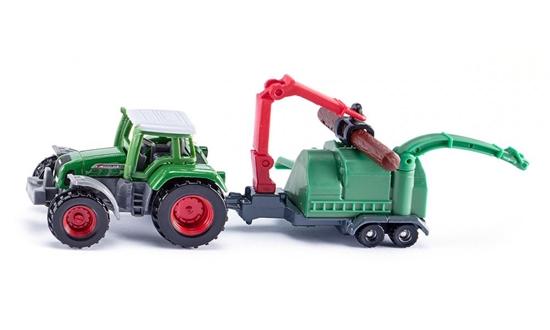 Siku 1675 Traktor z rębakiem do drewna (S1675)