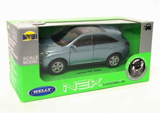 Welly 1:34 Lexus RX 450H - błękitny