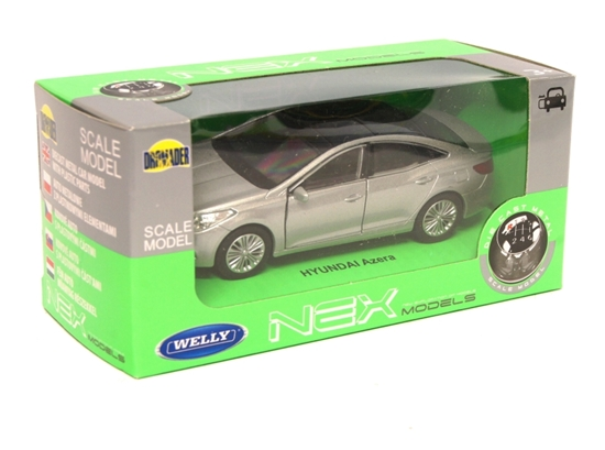 Welly 1:34 Hyundai Azera - srebrny