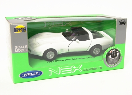 Welly 1:34 Chevrolet 1982 Corvette Coupe - biały