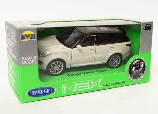 Welly 1:34 Land Rover Range Rover Sport -kremowy