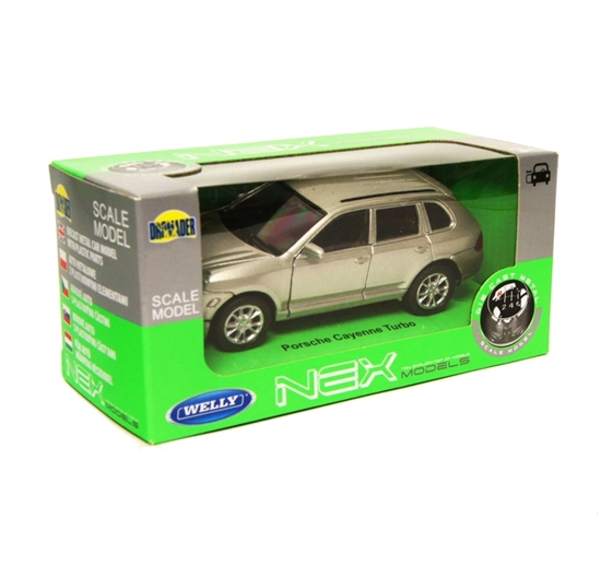 Welly 1:34 Porsche Cayenne Turbo -srebrny