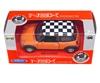 WELLY 1:34 Mini Cooper -szachownica pomarańczowy