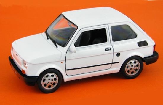 WELLY 1:27 FIAT 126P - biały