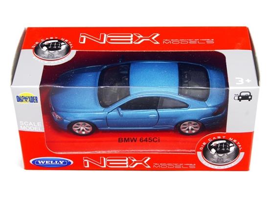 Welly 1:34 BMW 645Ci -niebieski