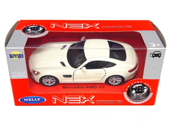 WELLY 1:34 Mercedes-Benz AMG GT - kremowy