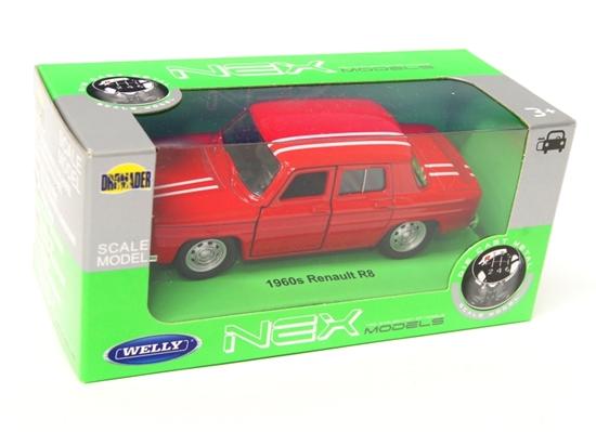 Welly 1:34 Renault R8 1960s - czerwony