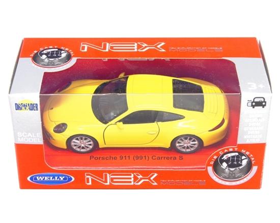 WELLY 1:34 Porsche 911 (991) Carrera S  '91 - żółty