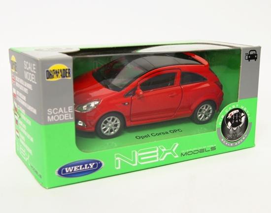Welly 1:34 Opel Corsa OPC - czerwony