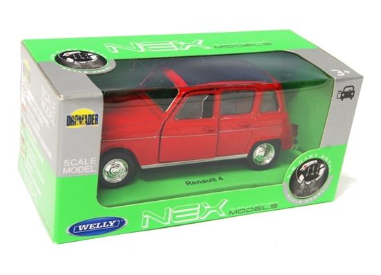 Welly 1:34 Renault 4 - czerwony