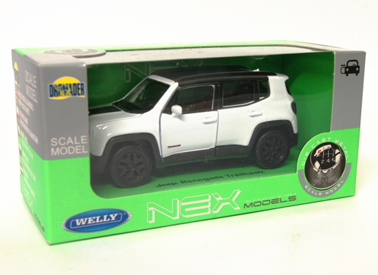 Welly 1:34 Jeep Renegade Trailhawk - biały