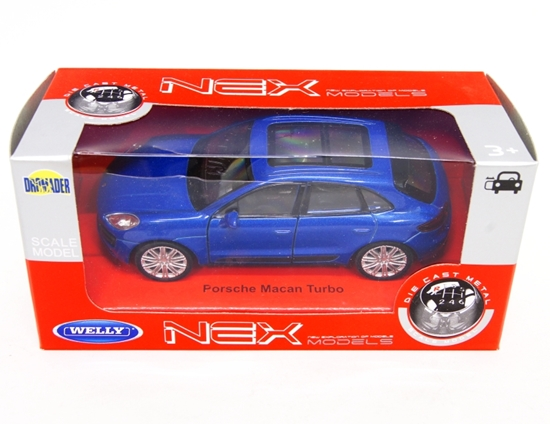 WELLY 1:34 Porsche Macan Turbo - niebieski