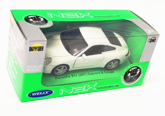 WELLY 1:34 Porsche 911 Carrera S Coupe '97 - biały